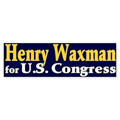 Re-elect Henry Waxman Bumper Bumper Sticker
