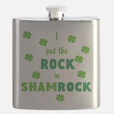 I put the ROCK in SHAMROCK Flask