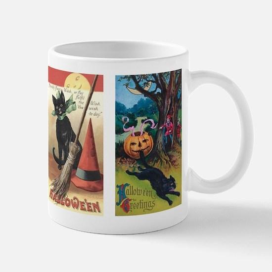 Vintage Cats Halloween Mug