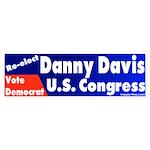 Re-elect Danny Davis Bumper Sticker