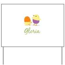 Easter Chick Gloria Yard Sign