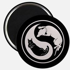 Dog-Cat Yin-Yang Magnet