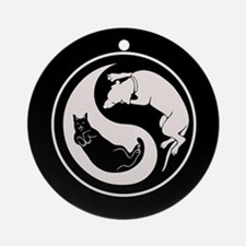 Dog-Cat Yin-Yang Ornament (Round)