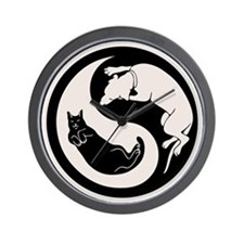 Dog-Cat Yin-Yang Wall Clock