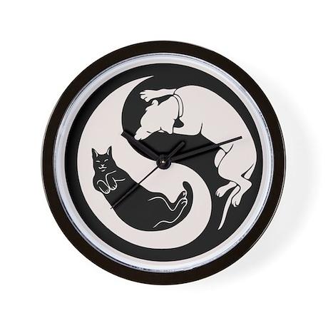 Dog-Cat Yin-Yang Wall Clock