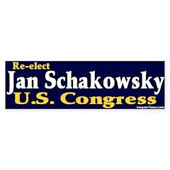 Re-elect Jan Schakowsky Bumper Bumper Sticker