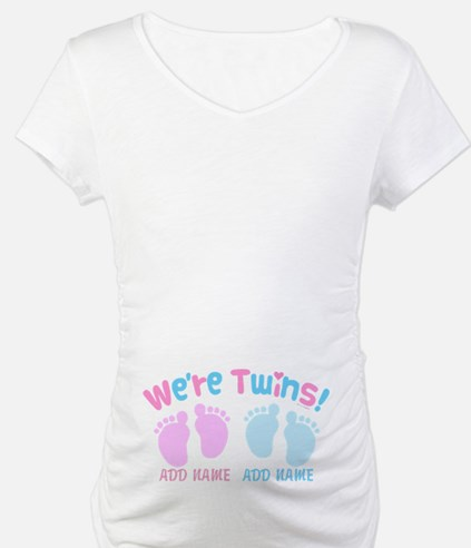 We're Girl and Boy Twins Customi Shirt