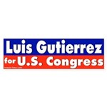 Re-elect Luis Gutierrrez Bumper Sticker