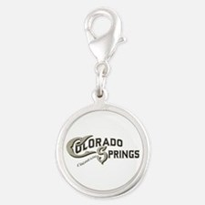 Colorado Springs Silver Round Charm