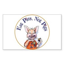 Eat Pies Not Pigs Decal