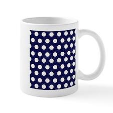 Dark Blue Dots Mug