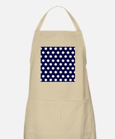 Dark Blue Dots Apron