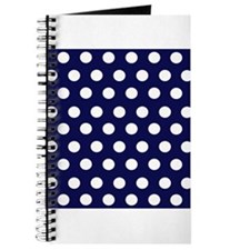Dark Blue Dots Journal