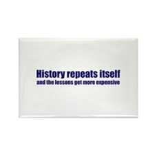 History Repeats Itself Rectangle Magnet