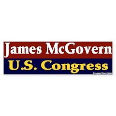 Re-elect James McGovern Bumper Bumper Sticker