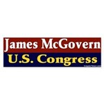 Re-elect James McGovern Bumper Sticker