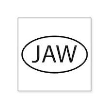 JAW Oval Sticker