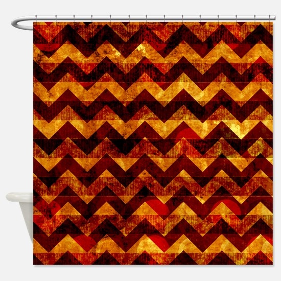 orange and brown shower curtain. Indian Grunge Chevron Shower Curtain Red And Brown Curtains  CafePress
