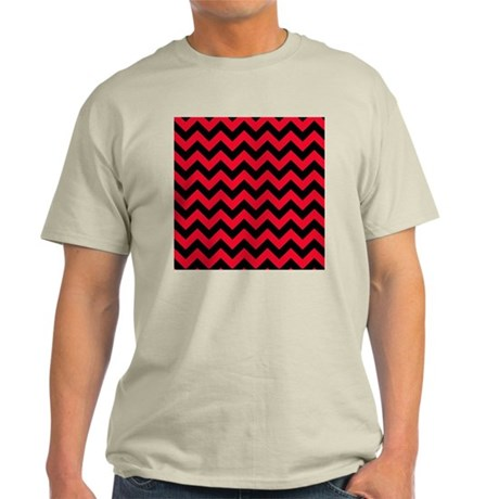 Red and Black Chevron T-Shirt