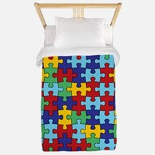 Autism Awareness Puzzle Piece Pattern Twin Duvet