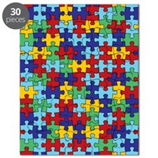 Autism Awareness Puzzle Piece Pattern Puzzle