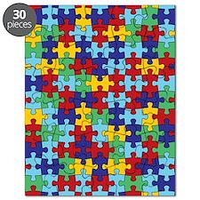 Autism Awareness Puzzle Piece Pattern Puzzle
