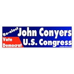 Re-Elect John Conyers Bumper Bumper Sticker