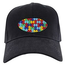 Autism Awareness Puzzle Piece Pattern Baseball Hat