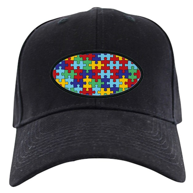 Autism Awareness Puzzle Piece Pattern Baseball Hat By