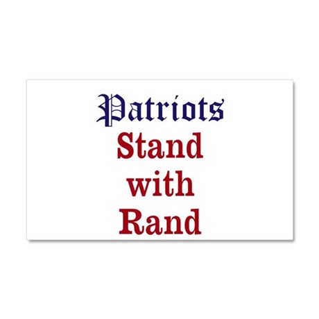 Patriots Stand With Rand Car Magnet 20 x 12