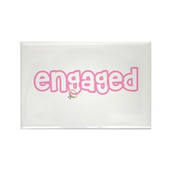 Engaged (Pink) Rectangle Magnet (100 pack)