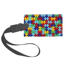 Autism Awareness Puzzle Piece Pattern Luggage Tag