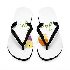 Easter Chick Jacquelyn Flip Flops