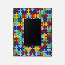 Autism Awareness Puzzle Piece Pattern Picture Frame