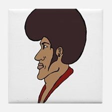 Afro Man Tile Coaster
