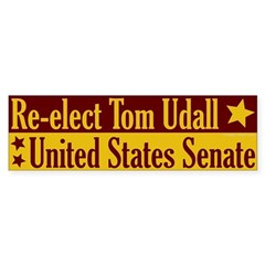 Re-elect Tom Udall Bumper Bumper Sticker