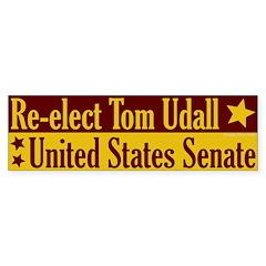 Re-elect Tom Udall Bumper Bumper Sticker