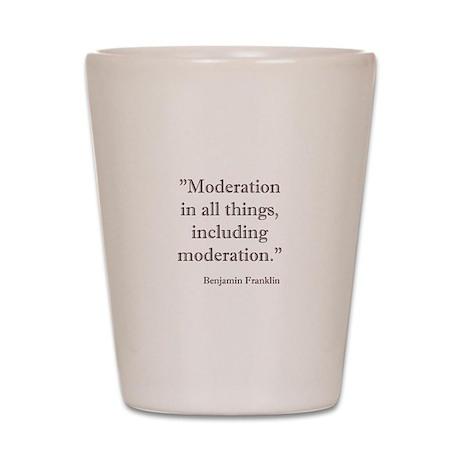 Moderation Shot Glass