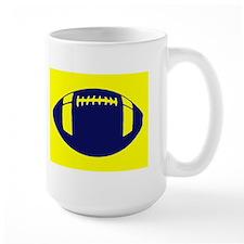 NAVY YELLOW FOOTBALL Mug