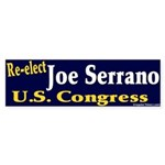 Re-elect Joe Serrano Bumper Sticker