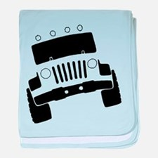 Jeepster Rock Crawler baby blanket