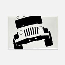 Jeepster Rock Crawler Rectangle Magnet