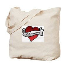 Channing Tattoo Heart Tote Bag