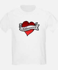 Channing Tattoo Heart Kids T-Shirt