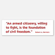 Armed Citizenry Sticker (Bumper)