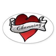 Channing Tattoo Heart Oval Decal