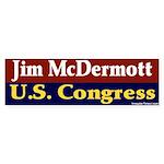 Re-elect Jim McDermott Bumper Sticker