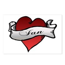 Ian Tattoo Heart Postcards (Package of 8)
