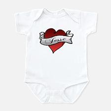 Jesse Tattoo Heart Infant Bodysuit