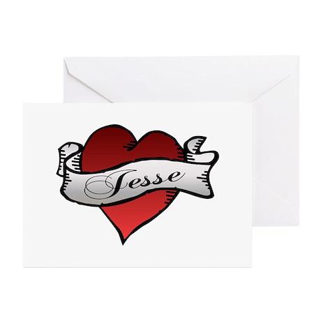 Jesse Tattoo Heart Greeting Cards (Pk of 10)
